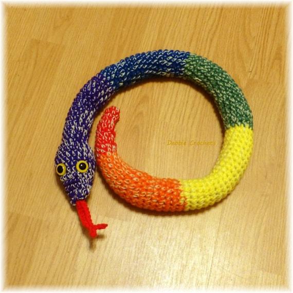 Door Draft Stopper Snake Rainbow Crochet Draft Dodger Door