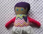 Mae Large Handmade Fabric Baby Doll
