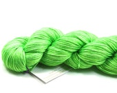 Limeade--hand dyed sock weight yarn, merino and silk, (437yds/100gm)