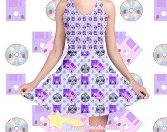 Kawaii Floppy Disk and CD Dress