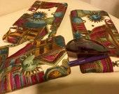 Sunglasses Case Fabric Handmade, Ready to Ship