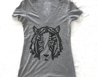 Tigertar - Ladies V-Neck