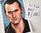 Doctor Who Christopher Eccleston 5 x 7 Art Reproduction FLASH SALE