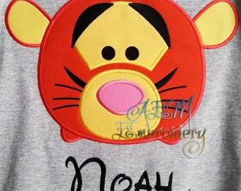Personalized Tsum Tsum Tgger Shirt Unisex Styled Shirts Toddler Youth Adult