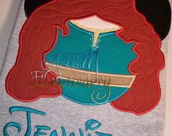 Personalized Merida Minnie Shirt (4 weeks)