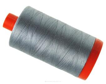 MK50 2605 - Grey - Aurifil Cotton Thread Large Spool (1422 yds)
