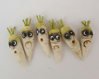 Fantasy vegetables with faces - DAIKON (turnip)