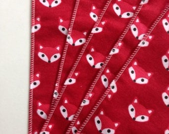 5 Fox Burp Cloths