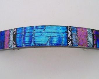 Extra Large dichroic glass barrette