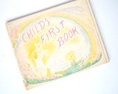 accordion board book a child's first book by nancy jewel 1978 first edition rare waldorf early childhood kindergarten wordless illustrated