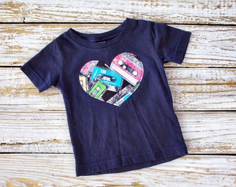 Mixed Tape Cassettes Tee - 6 months