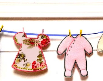 BABY PJ BUNTING Machine embroidery Designs