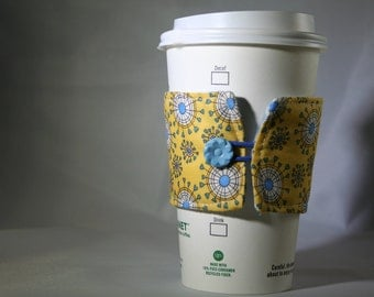Yellow & Blue Coffee Sleeve