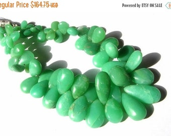 55% OFF SALE 8 Inches 57Pcs Natural Chrysoprase Smooth Pear Briolettes Size 8x6 - 19x10mm approx