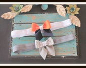 Two Custom made infant toddler or girls hairbows
