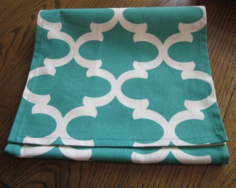 Teal Table Runner - Fynn Table Runner - Weddings, Receptions, Parties, Dining Table, Buffet
