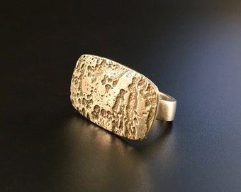 Highly Textured Fine Silver Ring