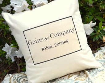 Personalized Name pillow  - Anniversary Date, Mother's Day, personalized gift, anniversary gift, 2nd anniversary, cotton anniversary gift