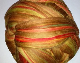 Merino Top Roving Wool in Fiesta 2oz