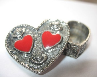 Vintage Heart and Roses Trinket or Tooth Fairy Box