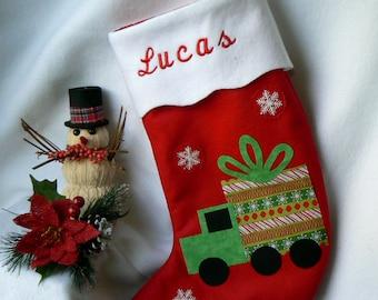 Felt Christmas Stocking|Kids Personalized Christmas Stocking|Christmas Home Decor|Traditional Red Felt Christmas Stocking|Kid Stocking