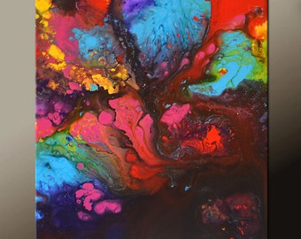 Abstract Art Painting on Canvas - 18x24 Contemporary Original Paintings by Destiny Womack - dWo - Lost in Imagination