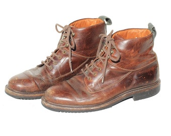 Vintage Men's Brown Leather Ankle Boot / Cole Haan Boots / size 7.5