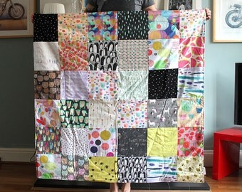 Beautiful handmade one of a kind rainbow quilt