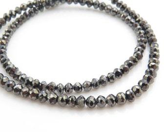 Black Diamond Faceted Bead 2.5mm ~ SINGLE (CG4363)