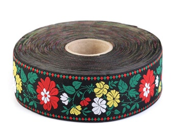 Czech Republic 1 Yard Woven Colorful Folk Costume Trim 45mm Wide CFT 017R