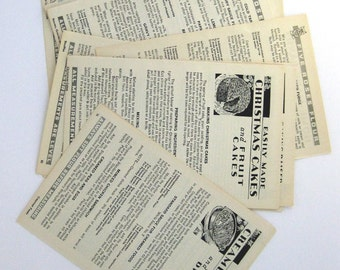 20 Five Roses Flour cookbook pages 1932 for your altered art