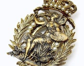 Vintage Denise Brown Art Nouveau Nymph Brooch