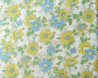 Cotton Fabric, 1 Yard of  Flower Garden Designer Cotton Fabric, Maywood Studio, Feed Sack Look Fabric, Quilt Fabric, Floral Design