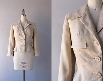 1950s Jacket / Vintage 50s Silk Suit Jacket / 50s Zelinka-Matlick Jacket