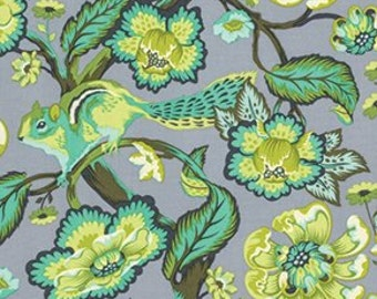 Tula Pink Chipper Chipmunk Mint Green Freespirit Fabric 1 yard