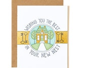 Wishing You The Best In Your New Nest Letterpress Card//1canoe2