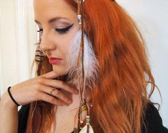 feather headress festival headress tribal headress