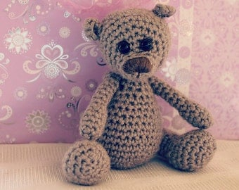 Download Now - CROCHET PATTERN Little Teddy - Amigurumi Bear - Pattern PDF