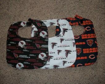 Cotton  Baby Bib (Arizona Cardinals, Atlanta Falcons or Chicago Bears Traditional)