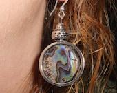 Abalone earrings, boho earrings, gift ideas, dangle earrings, boho chic jewelry