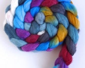 Polwarth/Silk Roving - Handpainted Spinning or Felting Fiber, Stolen by Bandits
