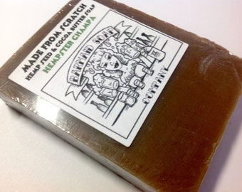 Handmade Hemp Seed and Olive Oil Soap with cocoa butter Authentic Smell of the Sixties