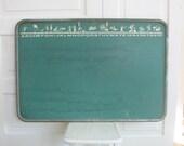 Vintage Child Chalkboard Blackboard Green Alphabet Nursery Decor Art Metal