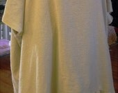 Free Size Tunic/Rough Sewn/Oatmeal Cotton/Homespun Look/Ruffles/Oversize/Funwear