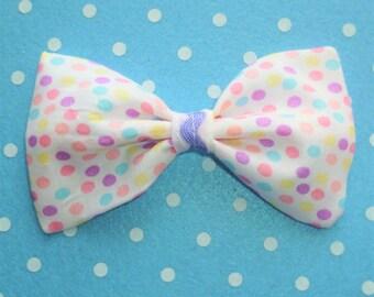 SALE Fairy Kei Pastel Dot Hair Bow Clip