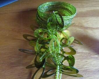 lime beaded bracelet