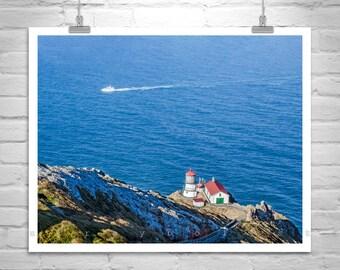 Point Reyes Art, Lighthouse Print, Marin County, California Photo, Ocean Photograph, California Coast, Seascape Art, Gift Picture, Wall Art