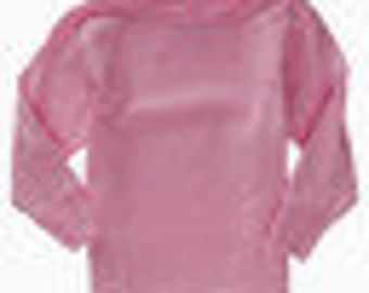 Girls Pink T-shirt long or short sleeves Toddler   Size  18 months or 2 toddler great for crafts