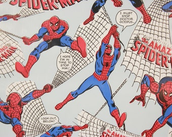 1970s Vintage Wallpaper Spider-Man Marvel Comics Contact Paper Peel n Stick by the Yard