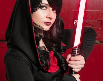 READY to SHIP- Halloween Costume Adult Sith- Dark Side Dress - Star Wars- XS Size